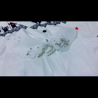 シークレットハニー(Secret Honey)のシークレットハニー トップス 白 ホワイト 天使 羽 ラメ(シャツ/ブラウス(半袖/袖なし))