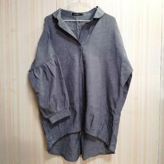 ジーユー(GU)の抜き襟 バルーン袖 丸襟ブラウス(シャツ/ブラウス(長袖/七分))
