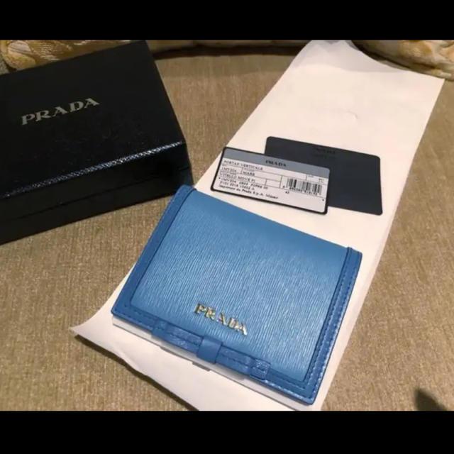 PRADA - PRADAお財布  新品  水色の通販 by kuu's shop|プラダならラクマ