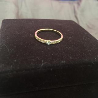 エクセルコダイヤモンド K18YG D 0.107ct ダイヤモンドリング!!(リング(指輪))