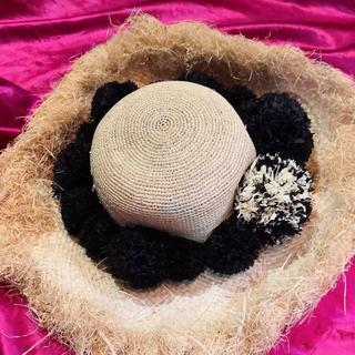 ヴィヴィアンウエストウッド(Vivienne Westwood)のviviennewestwoodハットピン付ボタニカル麦わら帽子(麦わら帽子/ストローハット)