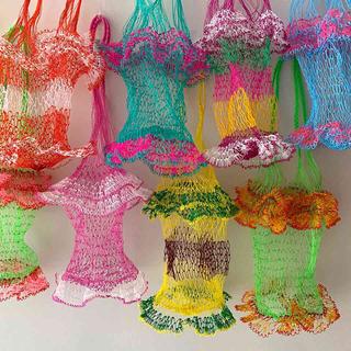 ロンハーマン(Ron Herman)の新品 タイ 網バッグ 編みバッグ ネット スパ ビーチ 旅行  網の店おおやま(かごバッグ/ストローバッグ)