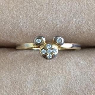 (24)ミッキーモチーフのリング ゴールド アンティーク(リング(指輪))