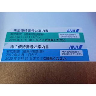 エーエヌエー(ゼンニッポンクウユ)(ANA(全日本空輸))の【ANA株主優待】(ブルー・グリーン) 2枚セット(航空券)
