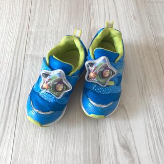 トイストーリー(トイ・ストーリー)のMOONSTAR◆バズライトイヤー 光る靴 16cm(スニーカー)