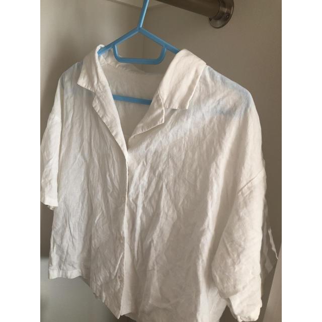 Kastane(カスタネ)のリネン 開襟シャツ GU レディースのトップス(シャツ/ブラウス(半袖/袖なし))の商品写真