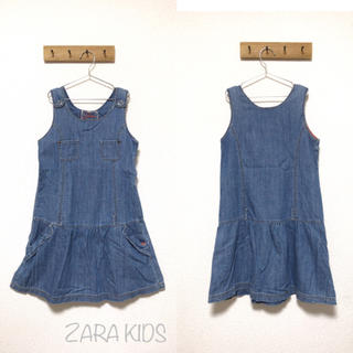 ザラキッズ(ZARA KIDS)のZARA KIDS デニムワンピース 160 女の子(ワンピース)