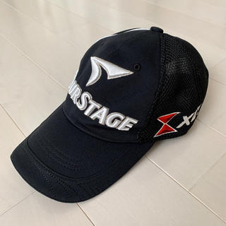 ツアーステージ(TOURSTAGE)のTOUR STAGE ツアーステージ メンズ ゴルフ キャップ 黒(ウエア)