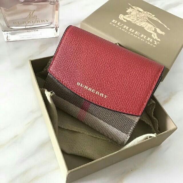 BURBERRY - バーバリー BURBERRY 財布 レッド色の通販 by イワサキ's shop|バーバリーならラクマ