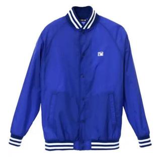 トリプルエー(AAA)の與真司郎 iamwhatiam Varsity Jacket BLUE(スタジャン)