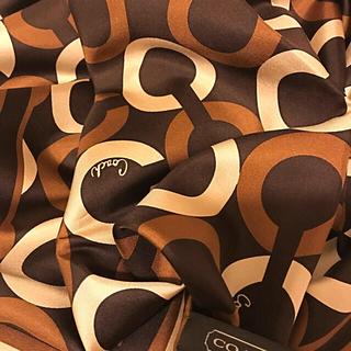 コーチ(COACH)の新品に近い  入手困難  コーチ  スカーフ  シルク100%  モダンテイスト(バンダナ/スカーフ)