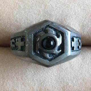 (31)太陽モチーフとオニキスのリング ブラック アンティーク(リング(指輪))