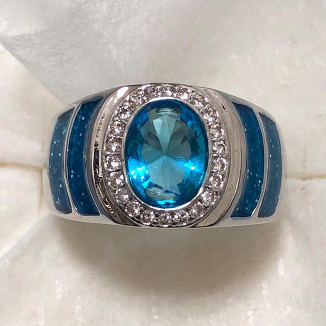オーシャンブルー♡ シルバーリング レディース 指輪 レディースのアクセサリー(リング(指輪))の商品写真