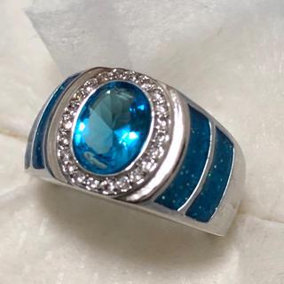 オーシャンブルー♡ シルバーリング レディース 指輪(リング(指輪))
