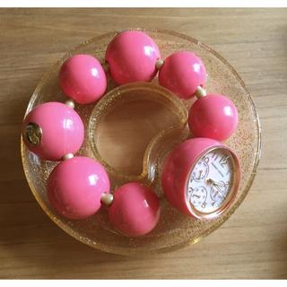 ツモリチサト(TSUMORI CHISATO)のツモリチサト クレイジー ハッピー ボール 時計 美品!ピンク(腕時計)