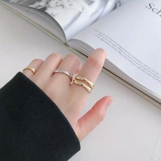 SALE☺︎インポート silver 925 リング ゴールド(リング(指輪))