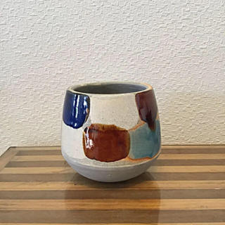 ●Trapezoid POT -Blue TYPE-  No.36(雑貨)
