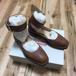 ヴィヴィアンウエストウッド(Vivienne Westwood)のレア ヴィヴィアン フラットシューズ ベルト付き(ローファー/革靴)