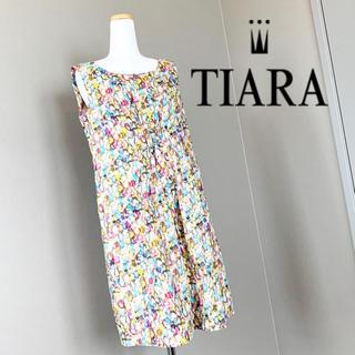 ティアラ(tiara)のティアラ♡リバティプリント♡ジュエル柄ワンピース(ひざ丈ワンピース)