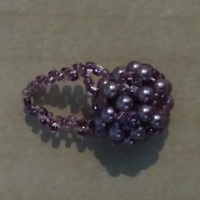 新品送料込!ビーズリング 指輪 ポイント消化 レディースのアクセサリー(リング(指輪))の商品写真