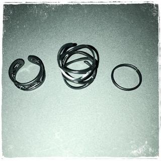 Mat Black Punk ring Set(リング(指輪))