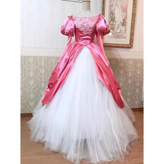 ディズニー(Disney)の❁Dハロ❁リトルマーメイド❁アリエル ピンクドレスデラックス衣装❁新品(その他ドレス)
