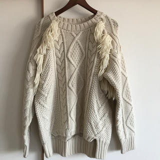 マウジー(moussy)の手編みニット(ニット/セーター)