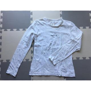 アニエスベー(agnes b.)のアニエス・ベー 白ロゴ長袖Tシャツ(Tシャツ(長袖/七分))