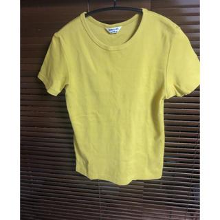 ロンハーマン(Ron Herman)のオーラリーT ロンハーマン別注 サイズ0 マスタードカラー(Tシャツ(半袖/袖なし))