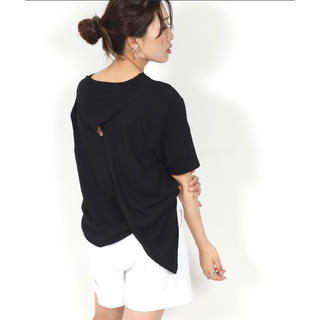 背中クロスTシャツ via j (Tシャツ(半袖/袖なし))