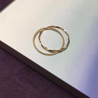18K 本金 イエローゴールド ピンキーリング (リング(指輪))