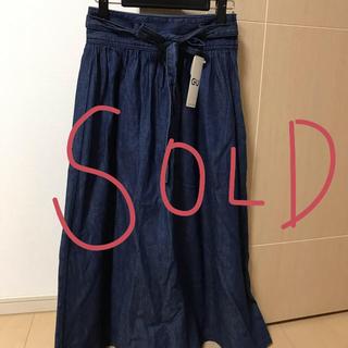 ジーユー(GU)の新品未使用 GUデニムロングスカート(ロングスカート)