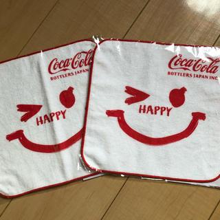 コカコーラ(コカ・コーラ)のコカコーラ 非売品 ハンドタオル 二枚セット(ノベルティグッズ)