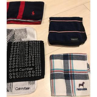 カルバンクライン(Calvin Klein)のタオルハンカチ 5枚セット カルバン・クライン ラルフローレン(ハンカチ/ポケットチーフ)
