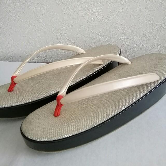祇園ない藤 高級綴れエナメル草履 購入済み レディースの靴/シューズ(下駄/草履)の商品写真