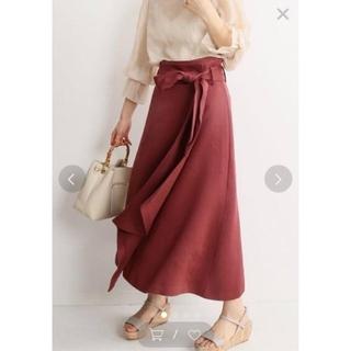ノーブル(Noble)の値札付き2019ss 【Noble】新品ラップスカート 黄34 (ひざ丈スカート)