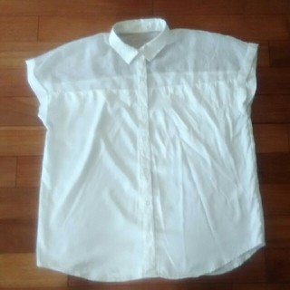 ジーユー(GU)のGU 透けシャツ サイズM(シャツ/ブラウス(半袖/袖なし))