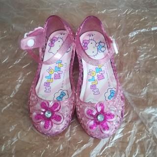ハローキティ(ハローキティ)の女の子用キラキラサンダル 15cm ピンク色(サンダル)