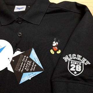 Disney - 新品タグ付き 黒 ミッキーマウス ポロシャツ LLサイズ