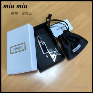 ミュウミュウ(miumiu)の【新品・未使用】*miu miu*シングルイヤリング(イヤリング)