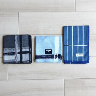 カルバンクライン(Calvin Klein)のハンカチ3セット 未使用品 紳士用(ハンカチ/ポケットチーフ)