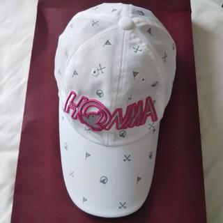 ホンマゴルフ(本間ゴルフ)のホンマ 本間 ゴルフ キャップ レディース  フリー バイザー 帽子 白 ピンク(その他)