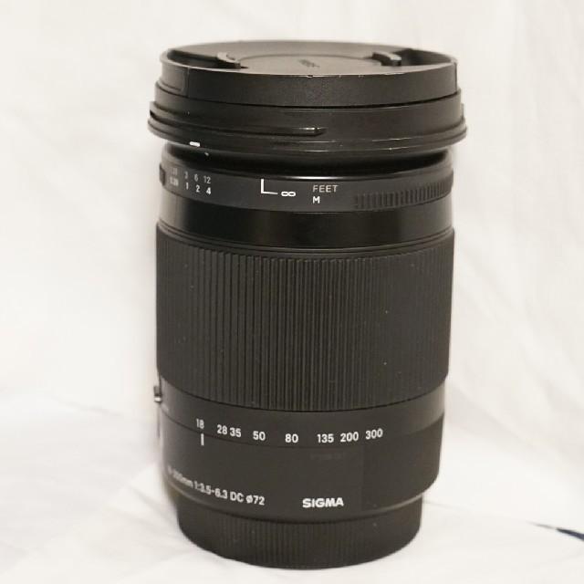 SIGMA(シグマ)の【美品】SIGMA 18-300mm F3.5-6.3 キヤノン用 スマホ/家電/カメラのカメラ(レンズ(ズーム))の商品写真