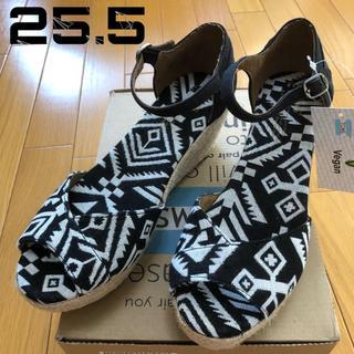 トムズ(TOMS)の★新品 米国ブランド TOMS サンダル 25.5cm ブラック(サンダル)