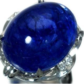 タンザニア産 超特大天然タンザナイト20.00ct&ダイヤ 高級Pt900リング(リング(指輪))