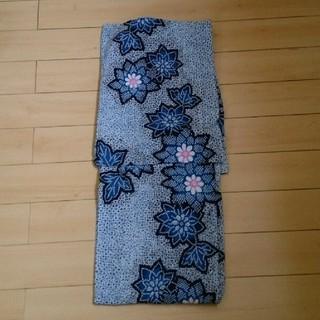 ヴィンテージ浴衣 絞り風の花柄模様(浴衣)