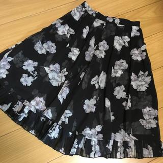 レディアゼル(REDYAZEL)のRADYAZEL  素敵な花柄裾プリーツティアードスカート(ひざ丈スカート)
