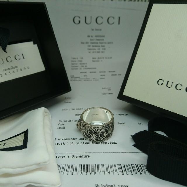 Gucci(グッチ)のはにか様専用!〖№505〗GUCCI グッチ ワイドリング キャットヘッド メンズのアクセサリー(リング(指輪))の商品写真