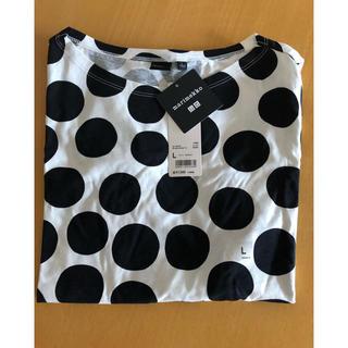 マリメッコ(marimekko)のUNIQLO マリメッコ コラボ Tシャツ ブラック サイズL(Tシャツ/カットソー(半袖/袖なし))
