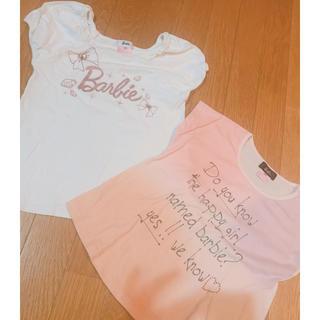 バービー(Barbie)のBarbie❤️Tシャツ120センチ2枚まとめ売り❤️正規品(Tシャツ/カットソー)